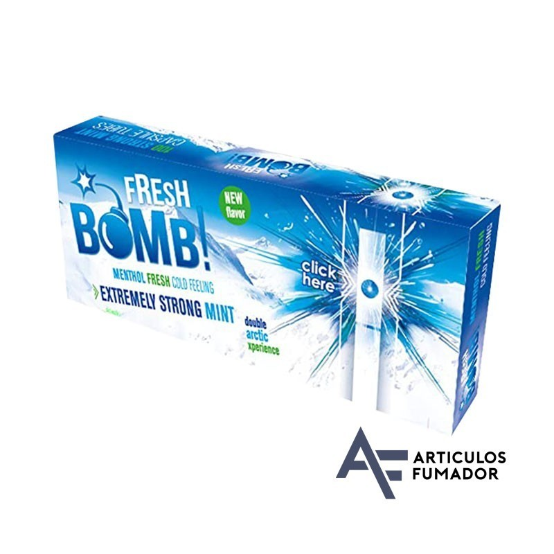 Tubos Fresh Bomb! Menta Fuerte Artic – 5 cajitas de 100 unidades
