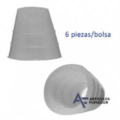 Conectores de goma para shisha pequeña y mediana