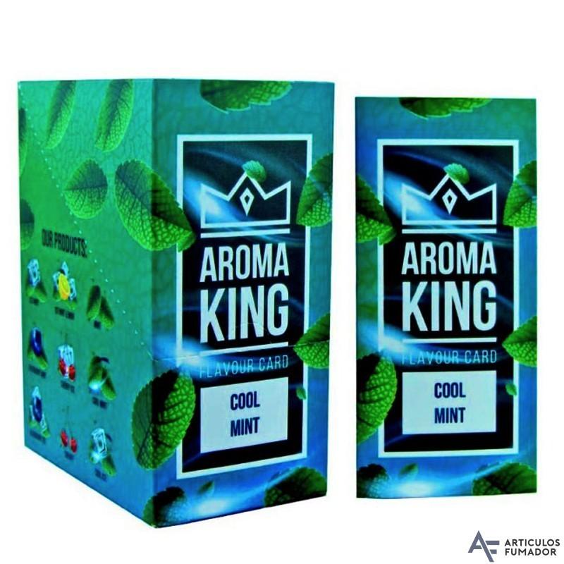 CAJA TARJETA ARÓMATICA AROMA KING COOL MINT PARA CIGARRILLOS 25 ud.